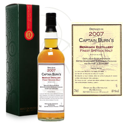 Whisky Captain Burn Benriach 2007
