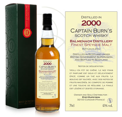 Whisky Captain Burn Balmenach 2000