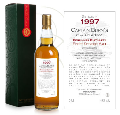 Whisky Captain Burn Benrinnes 1997
