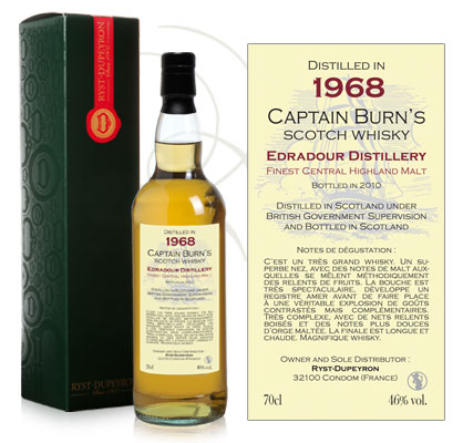 Whisky Captain Burn Edradour 1968