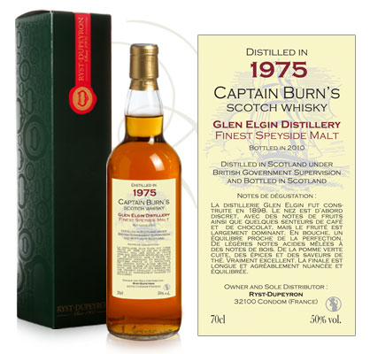 Whisky Captain Burn Glen Elgin 1975